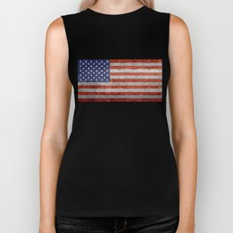 Flag of the United States of America - Vintage Retro Distressed Textured version Biker Tank