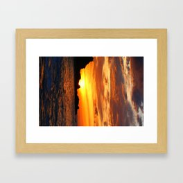 sunset happy bay 3 Framed Art Print