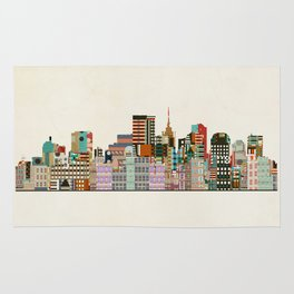 richmond virginia skyline Rug