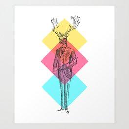 MANIMAL DEER Art Print
