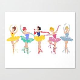 Brat Pack of Ballerina Princesses Canvas Print