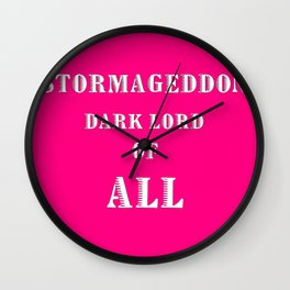 Doctor Who: Stormageddon Dark Lord of All Wall Clock