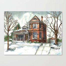 Victorian House in The Avenues Canvas Print