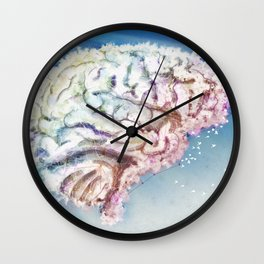Mind in the Clouds Wall Clock