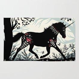 Folk Unicorn Rug