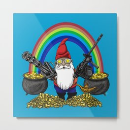 Gnome Guns Metal Print