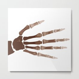 Isolated Boney Hand Metal Print