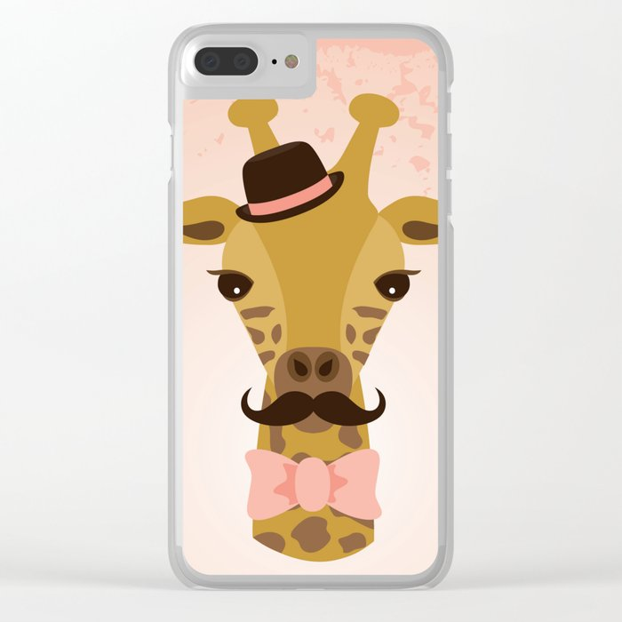 Happy Mother's Day ~ Giraffe Clear iPhone Case