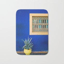 Moroccan Garden In Blue Bath Mat