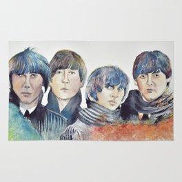 watercolor Beatle Rug