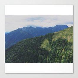 mountains love you Canvas Print