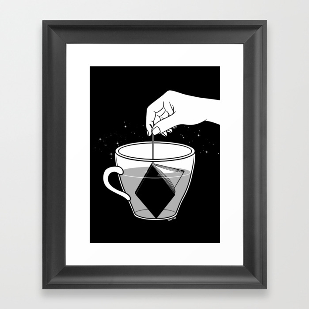 A Cup Of Book Framed Art Print by Hennkim FRM6948496