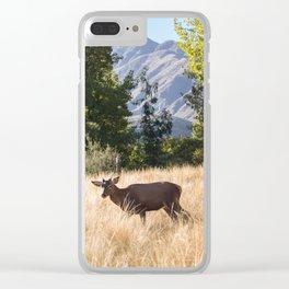 Ciervo en la montaña Clear iPhone Case