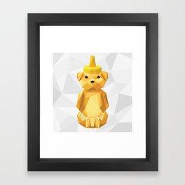 Honey Bear - Geometric Framed Art Print