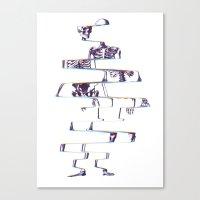 skeleton Canvas Prints featuring Skeleton by Ali GULEC
