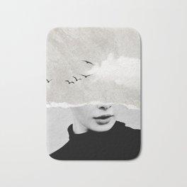minimal collage /silence Bath Mat