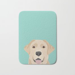 Yellow Lab dog portrait labrador retriever dog art pet friendly Bath Mat