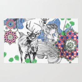 Deer Essaouira, Blue & Green Rug