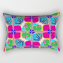 Tropical Shapes Pink Rectangular Pillow