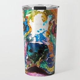 Colorful Dog Pit Bull Art - Happy - By Sharon Cummings Travel Mug