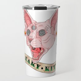 Freaky Kitty Travel Mug