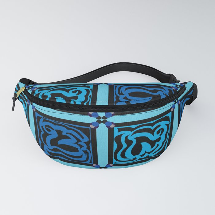 Shades of Blue Tile Fanny Pack