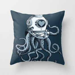 I'm falling in love with you? (blue gray) Throw Pillow