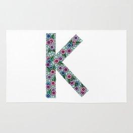 K Initial Rug