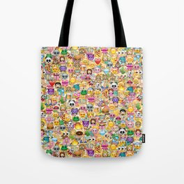 Emoticon pattern Tote Bag