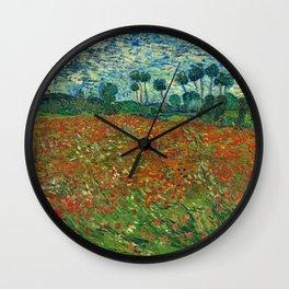 Vincent Van Gogh Poppy Field Wall Clock