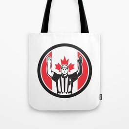Canadian Football Referee Canada Flag Icon Tote Bag