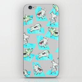 Aqua Yoga Pigs - Downward Facing Hog iPhone Skin