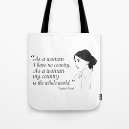 Virginia Woolf Feminist Quote Tote Bag
