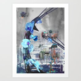 Urban growth Art Print