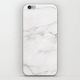 White Marble 006 iPhone Skin