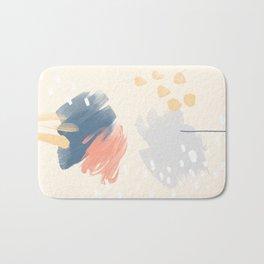 Peach and Blue Bath Mat