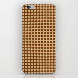Tan Brown and Chocolate Brown Diamonds iPhone Skin