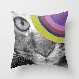 Pshycedelic Cat Throw Pillow