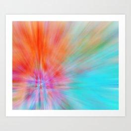Abstract Big Bangs 002 Art Print