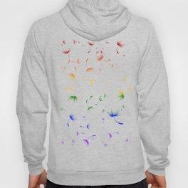 Dandelion Seeds Gay Pride (white background) Hoody