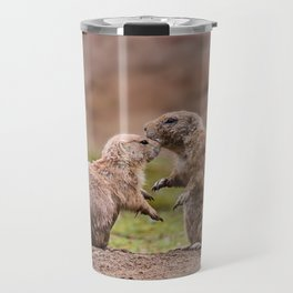 Cute Little Prairie Dogs In Love Travel Mug