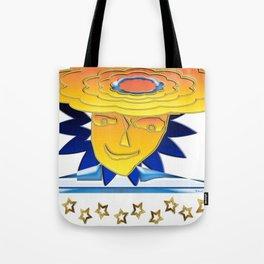 Doodle Sun-flower-man, abstract, fun design Tote Bag
