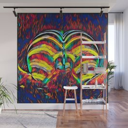 1349s-MAK Abstract Pop Color Erotica Explicit Psychedelic Yoni Buns Wall Mural