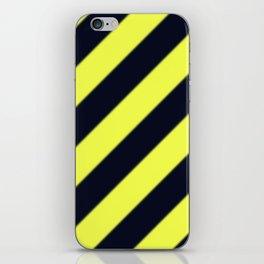 Black and Yellow Diagonal Stripes iPhone Skin