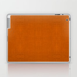 """Orange Burlap Texture (Pattern)"" Laptop & iPad Skin"