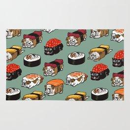 Sushi English Bulldog Rug