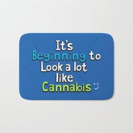 It's Beginning to Look Alot Like Cannabis Bath Mat