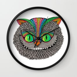 Alice´s cheshire cat by Luna Portnoi Wall Clock