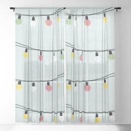 Fiesta and Lampions Sheer Curtain