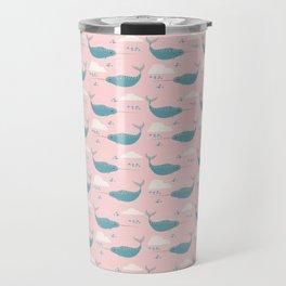 Narwhal pink Travel Mug